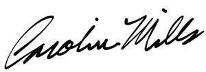 Signature of Caroline Mills