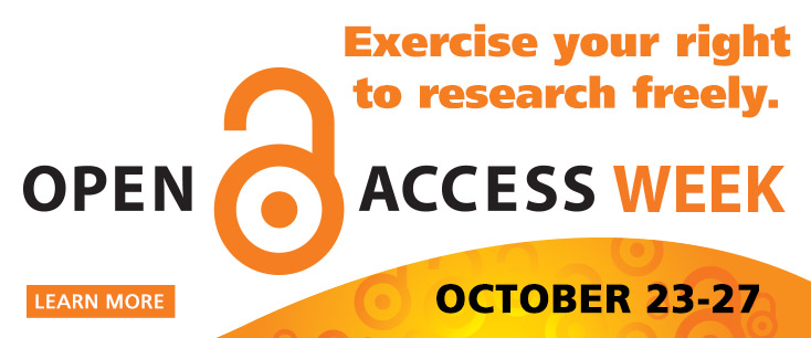Learn more about Open Access Week, October 23 - 27