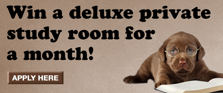 Win a deluxe private study room for a month!