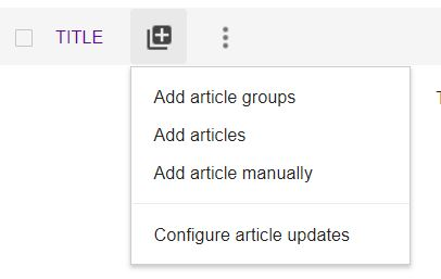 Add articles to Google Scholar