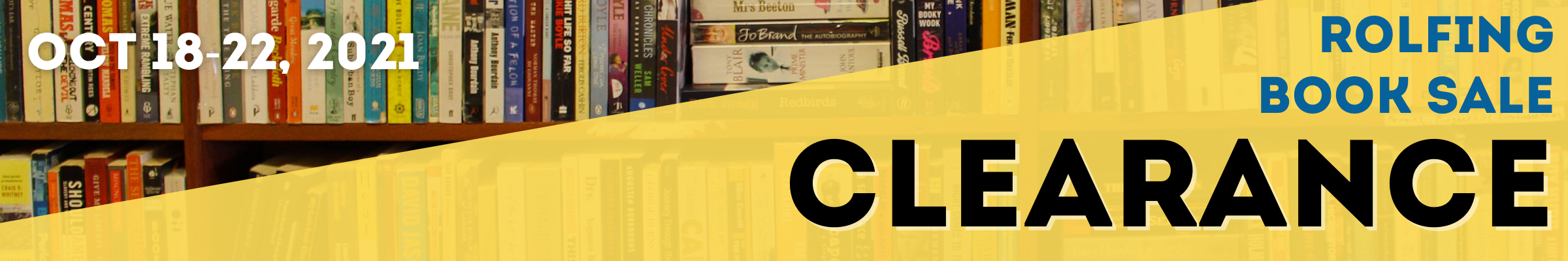 Book Sale Clearance - October 18-22, 2021