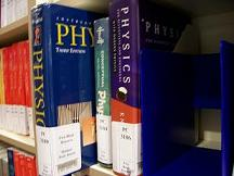 picture of reserve books on shelf