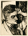 Jack Coughlin etching of James Joyce