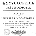 Encyclopedie Methodique title page