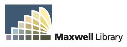 Maxwell library logo
