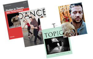 cover images of several dance journals