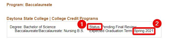 Graduations status