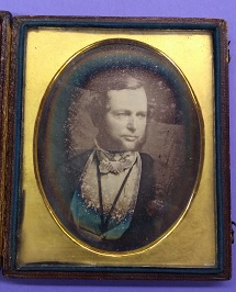 A daguerreotype of City College founder Townsend Harris circa 1846