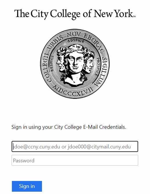 City College proxy login page image 2020