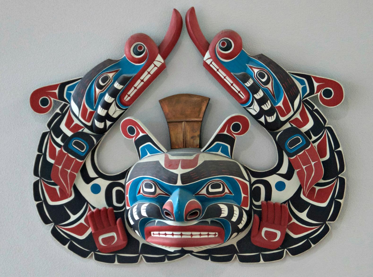 native american wall mask