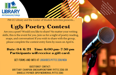 Ugly Poetry Contest Flyer