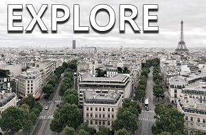 Explore: View of Paris, France and the Eiffel Tower from afar.