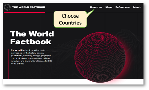 World Factbook: Choose Countries