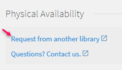 Request from another library interlibrary loan link