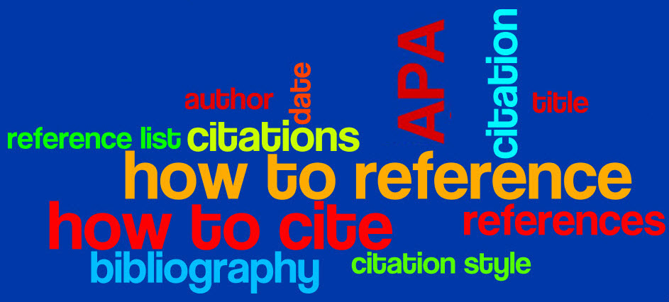 Get help with APA referencing