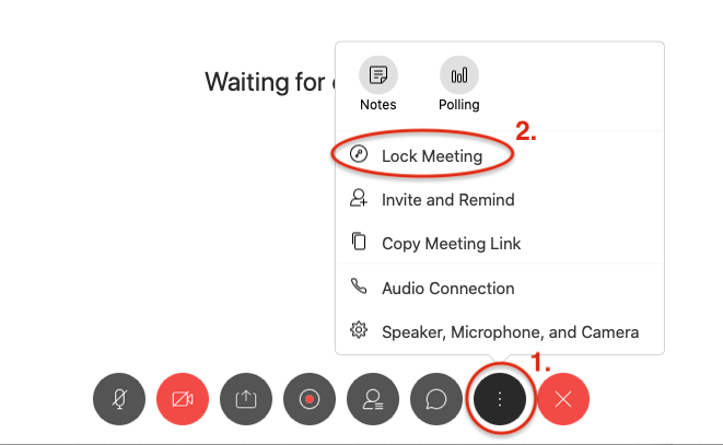 How to lock a Webex Meeting or Event.