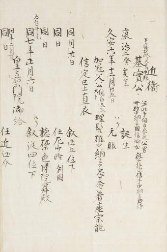 UC Berkeley digitized Kadenshu genealogical record