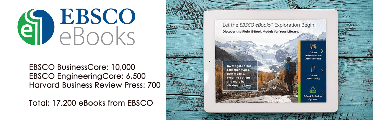 Image promoting EBSCO eBooks.