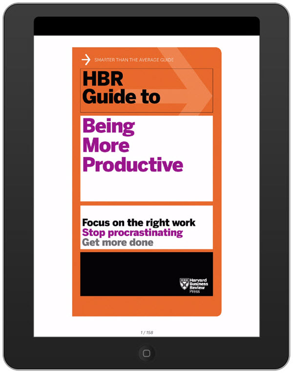 Image of an HBR book on an ipad.