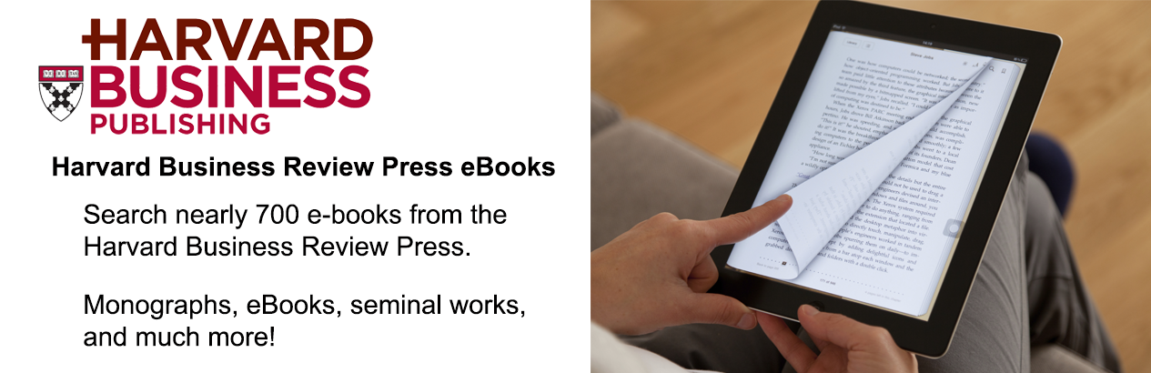 Image promoting EBSCO's Harvard Business Press eBook collection