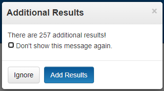 """Screen capture showing the """"Additional Results"""" feature."""