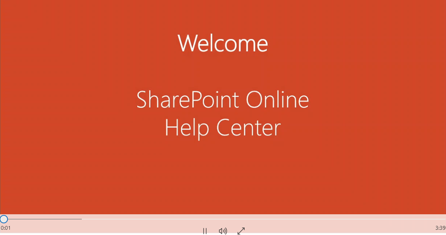 Screen capture of Sharepoint Introduction Video.