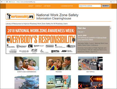 National Work Zone Clearing House