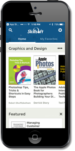 Image of Books24x7 on a smartphone