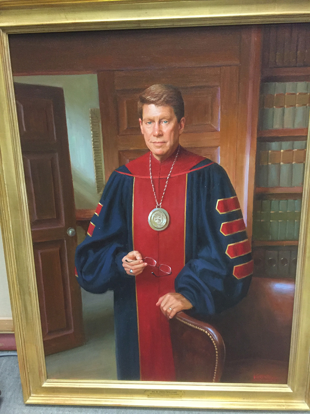 portrait painting of R. Owen Williams by Robert Kuester