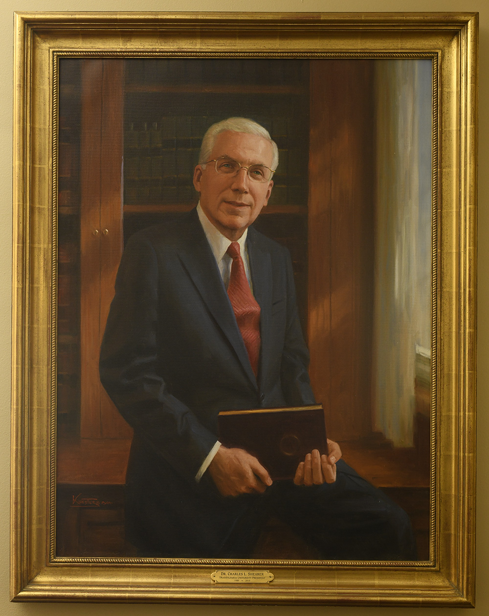 portrait painting of Dr. Shearer by Robert Kuester