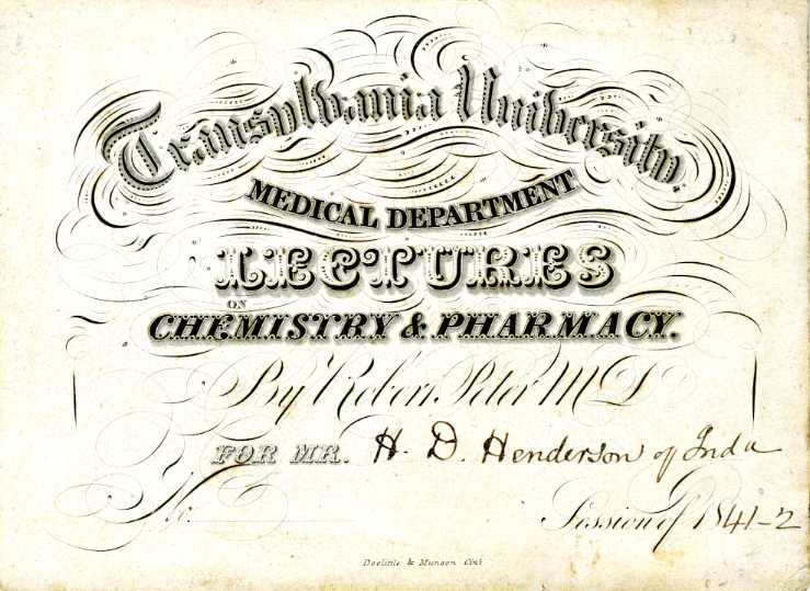 Image of 1840s Transy medical lecture ticket