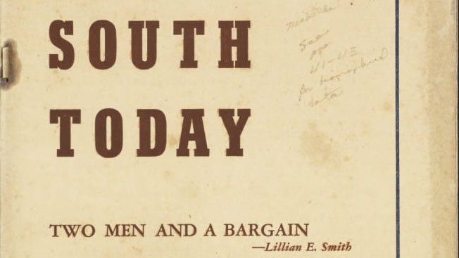 Cover of South Today, Lillian Smith's magazine, online at the Library