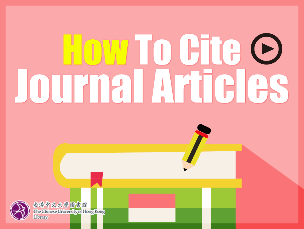 How to Cite Journal Articles