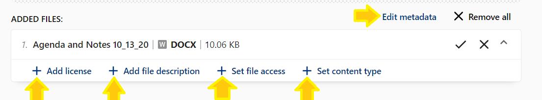 edit file information