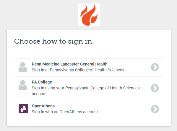 Sign in option for LGH users