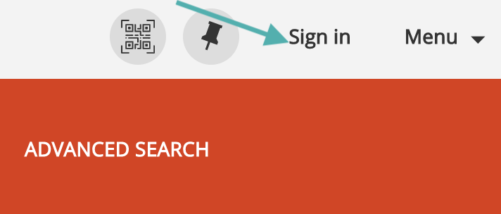 Image of location to Sign In to library account for SEARCH