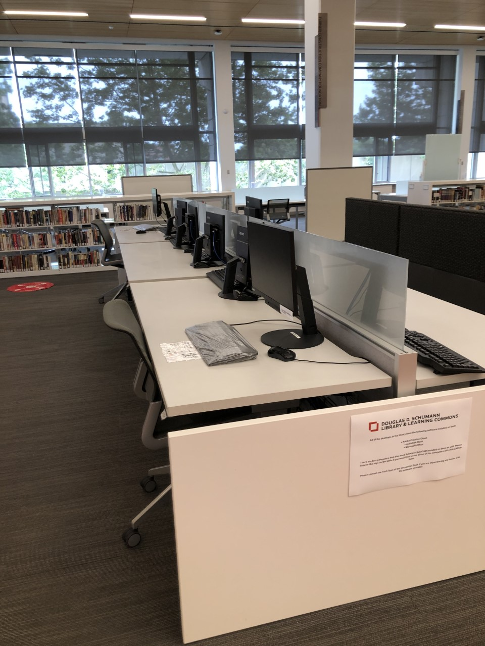 Library space; computer workstations