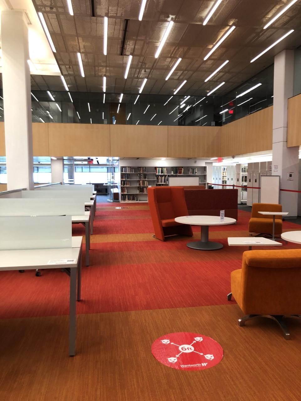 Library space; Mezzanine main area