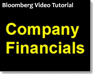 Bloomberg: Finding Company Financials