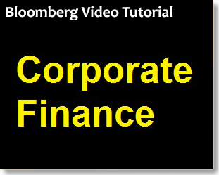 Bloomberg: Corporate Finance