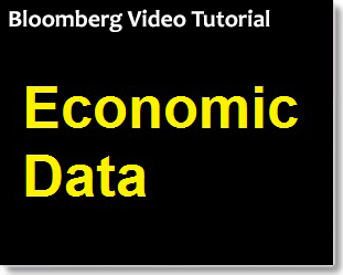 Bloomberg: Finding Economic Data