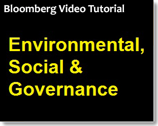 Bloomberg: Environmental, Social & Governance Analysis