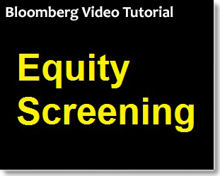 Bloomberg Equity Screening