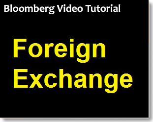 Bloomberg: Finding Foreign Exchange Data