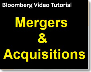 Bloomberg: Mergers & Acquisitions Data