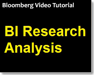 Bloomberg BI Research Analysis