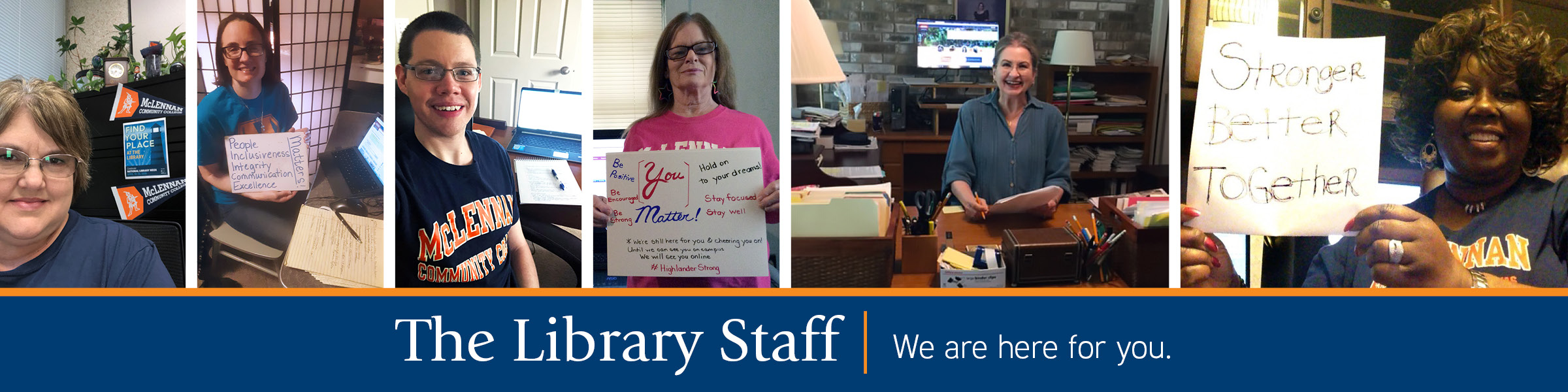 Library Staff Banner