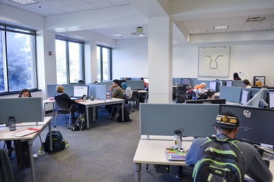 View of the Gemmill Library Computer Lab