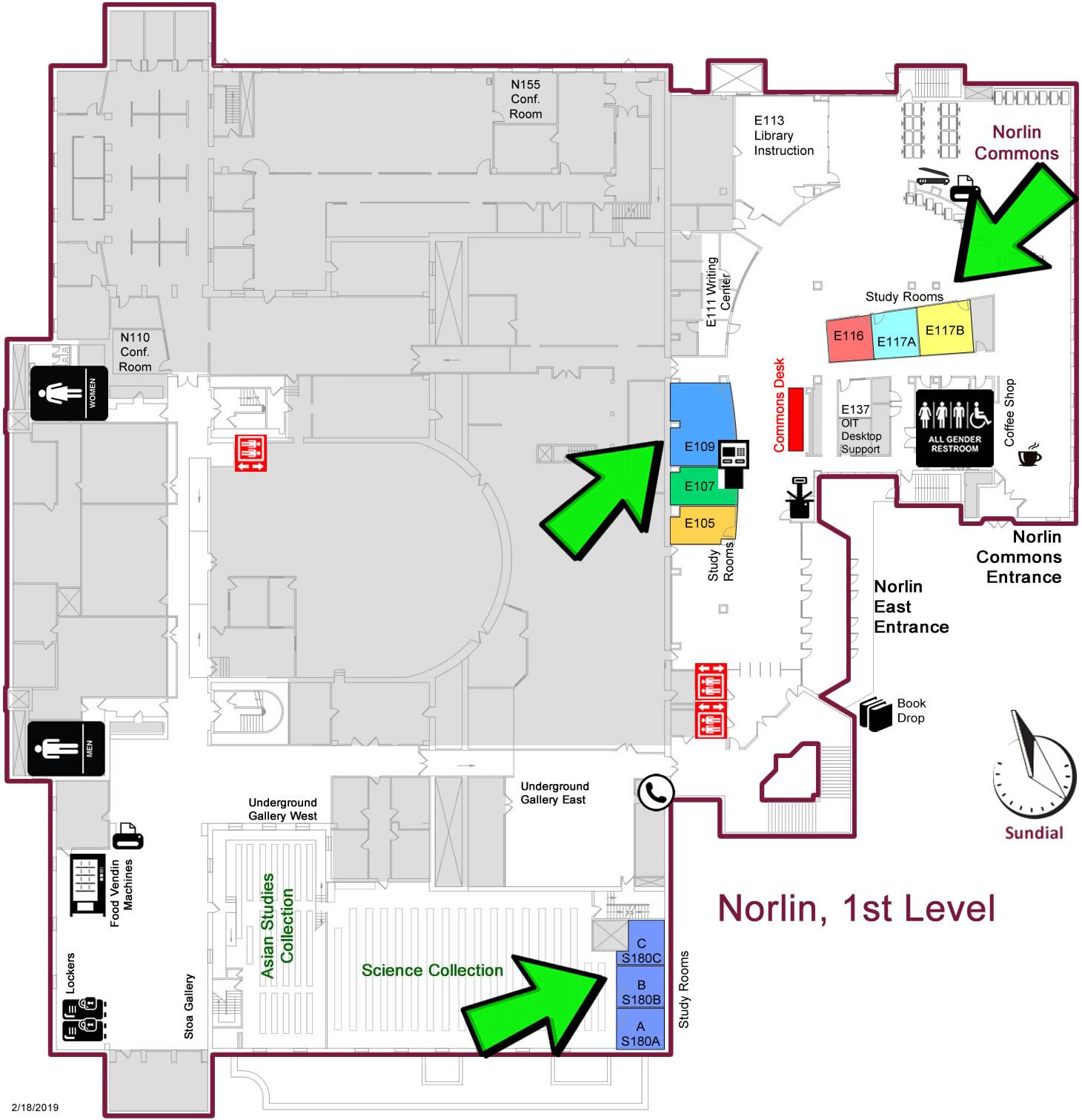 Norlin 1st floor study rooms
