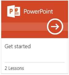 PowerPoint logo that links to training videos